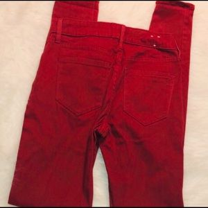 Old Navy Jeans - Woman's Old Navy Red Mid- rise Skinny Jeans Size 0